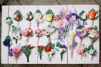 Creative floral buttonholes