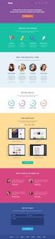 Creative PSD template with flat design