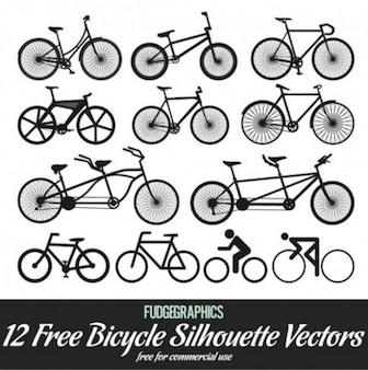 creative silhouette stylish bicycle vector