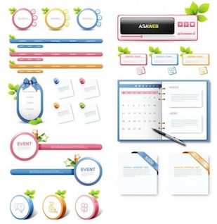 creative sweet web elements vector pack