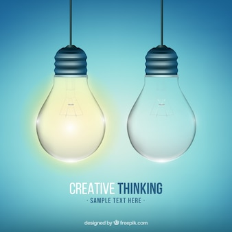 Creative thinking background