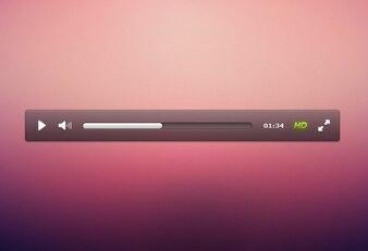 crisp custom video player interface psd