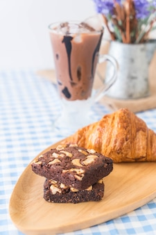 Croissant and brownies