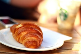 Croissant on the plate
