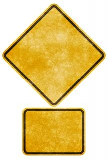 crossing road grunge sign   blank
