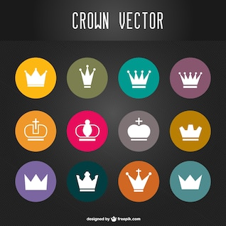 Crowns vector set