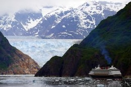 Cruise Ship in Tracy Arm