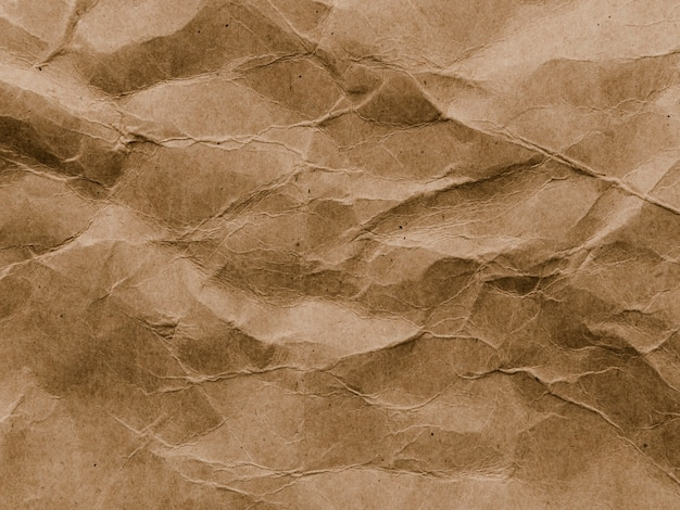 Crumpled brown paper background