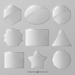 Crystal shapes vector set
