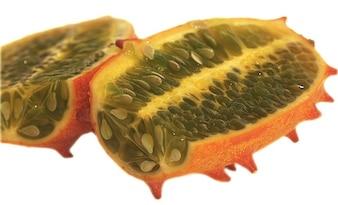 cucumber pulp horn kiwano melon fruit