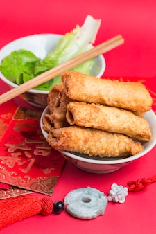 Cuisine roll up chinese crispy