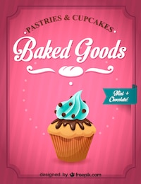 Cupcake vector graphics