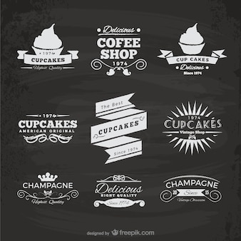 Cupcakes and coffee shop stickers