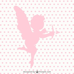Cupid angel vector silhouette