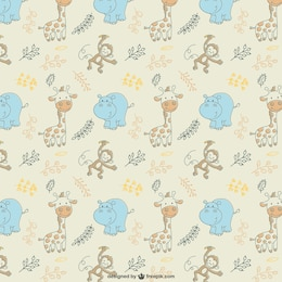 Cute animals vector pattern