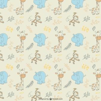 Cute animals vector pattern