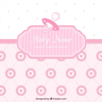 Cute baby shower card for girl