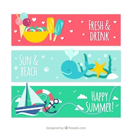 Cute banners for summer