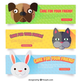 Cute banners with animals