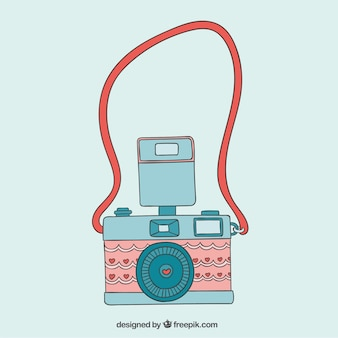 Cute camera in vintage style