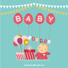 Cute card for baby shower