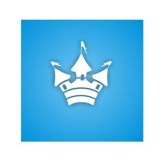 Cute castle vector icon design