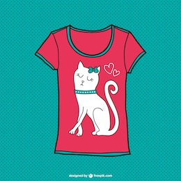 Cute cat t-shirt design