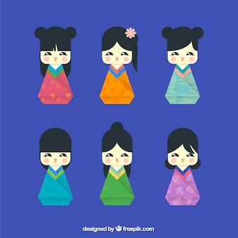 Cute chinese dolls