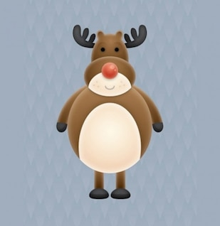 Cute christmas character illustration vector