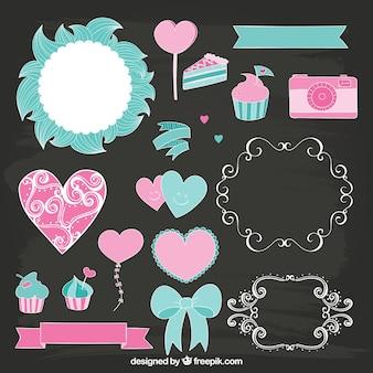 Cute decoration elements
