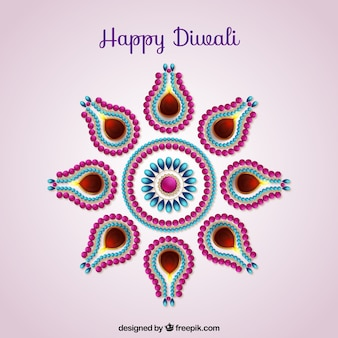 Cute Diwali background