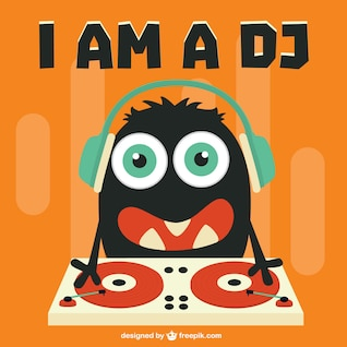 Cute DJ cartoon character