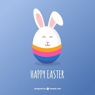 Cute easter bunny card