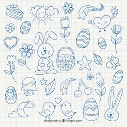 Cute easter drawings