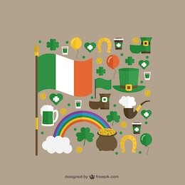 Cute elements of St Patricks day