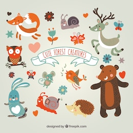 Cute forest creatures