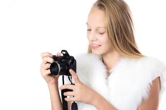 カメラを持っかわいい女の子