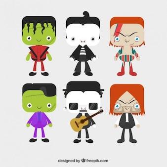 Cute halloween characters