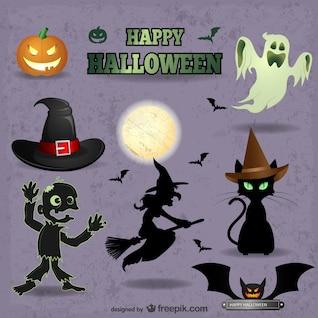 Cute Halloween vectors pack