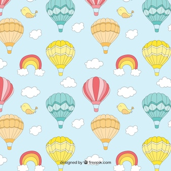 Cute hot air balloons pattern