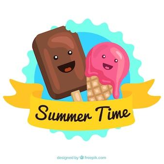 Cute Ice cream characters