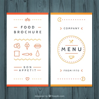 Cute menu with icons