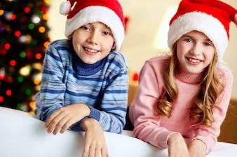 Cute newyear santa toothy charming