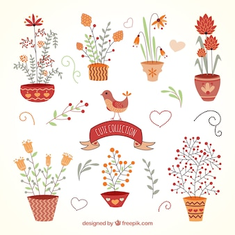 Cute plants collection