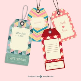 Cute retro label tags