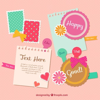 Cute scrapbooking elements
