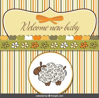 Cute sheep baby shower card