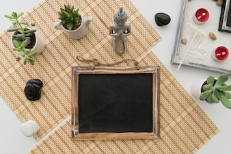 Cute spa decoration with chalkboard