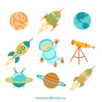 Cute space elements