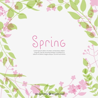 Cute spring plants background